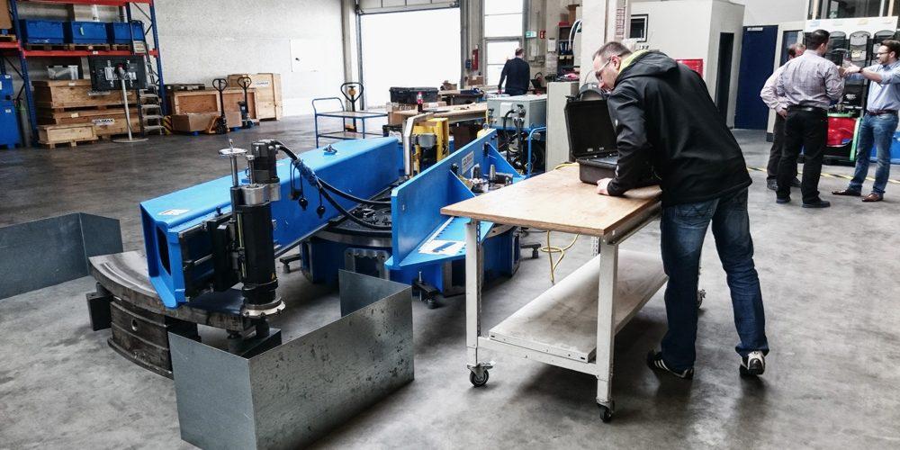 Zespół WWTECH na prezentacji parku maszynowego i technologii obróbki mobilnej firmy Climax Portable Machine Tools w Niemczech