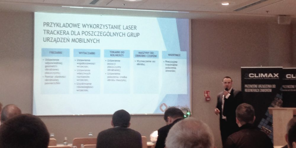 WWTECH services on the conference  – on site machining of Climax Portable Machine Tools company