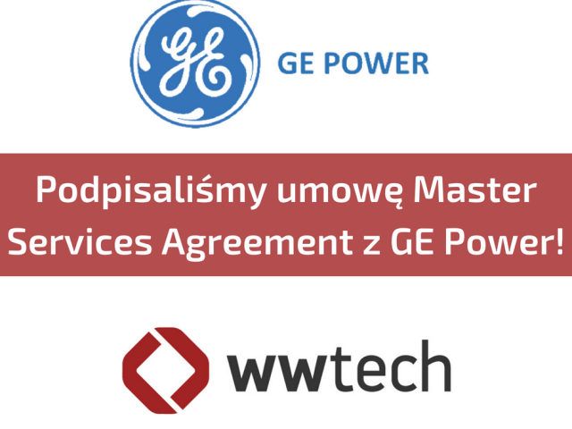 AGREEMENT BETWEEN WWTECH AND GE POWER