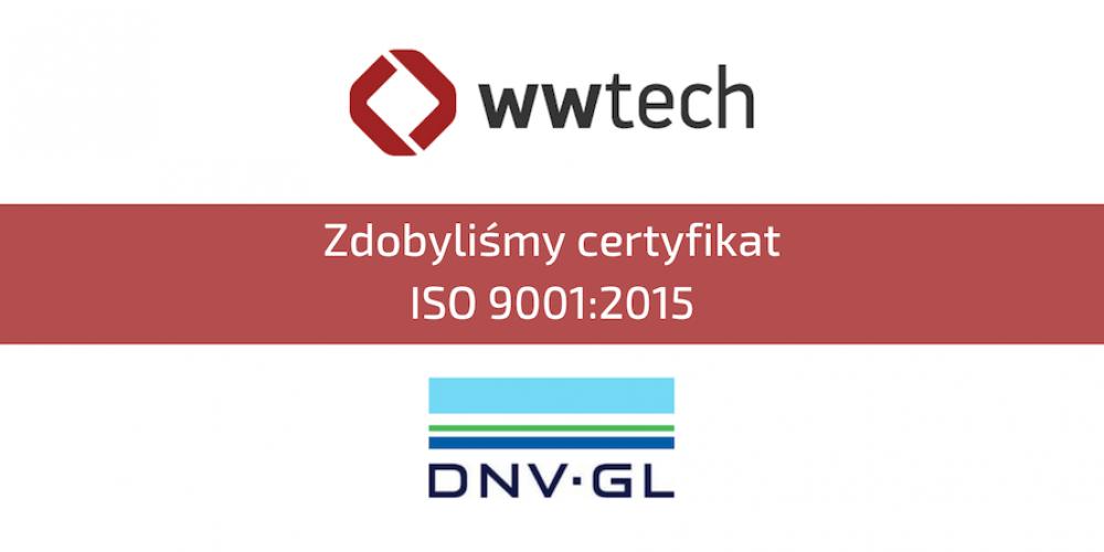 CERTYFIKAT ZGODNOŚCI SYSTEMU ZARZĄDZANIA JAKOŚCIĄ Z NORMĄ ISO 9001:2015