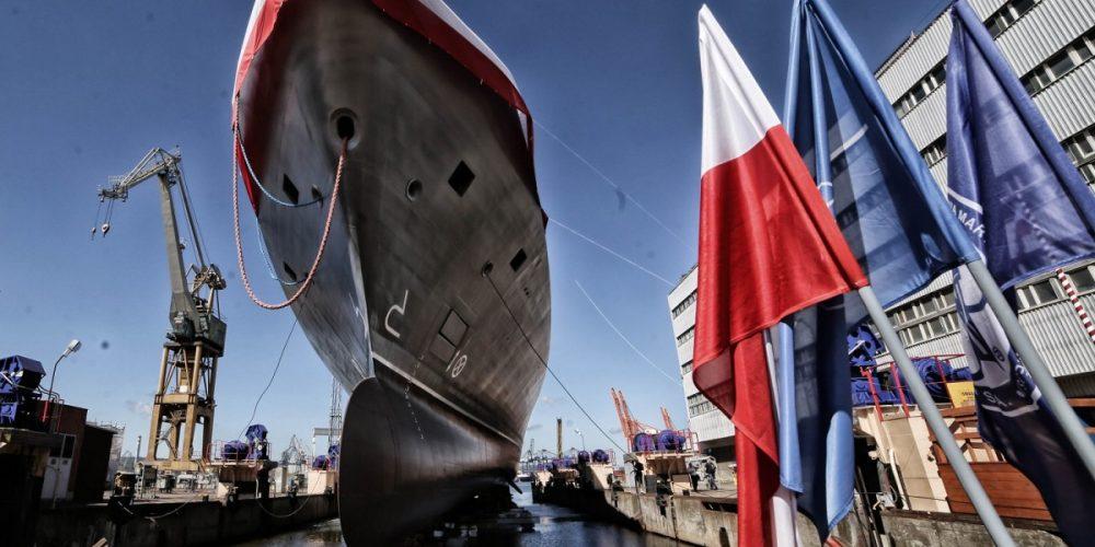 Guardship ORP Ślązak (Gawron corvette) – accurate, on site machining on the Gdynia Naval Shipyard