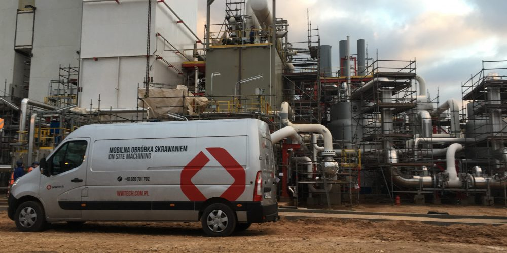 Legalization of pads' surface in the gases plant
