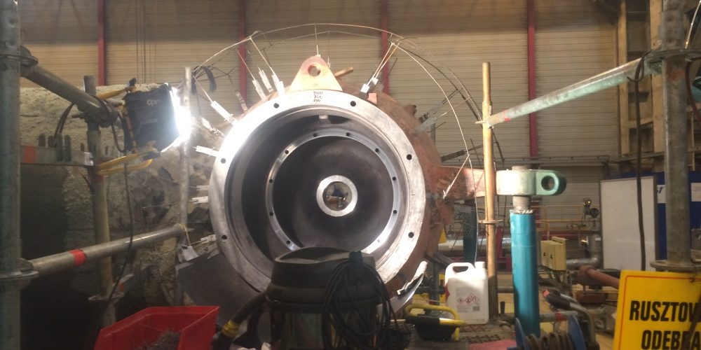 The making of on-site machining of cut-off valves