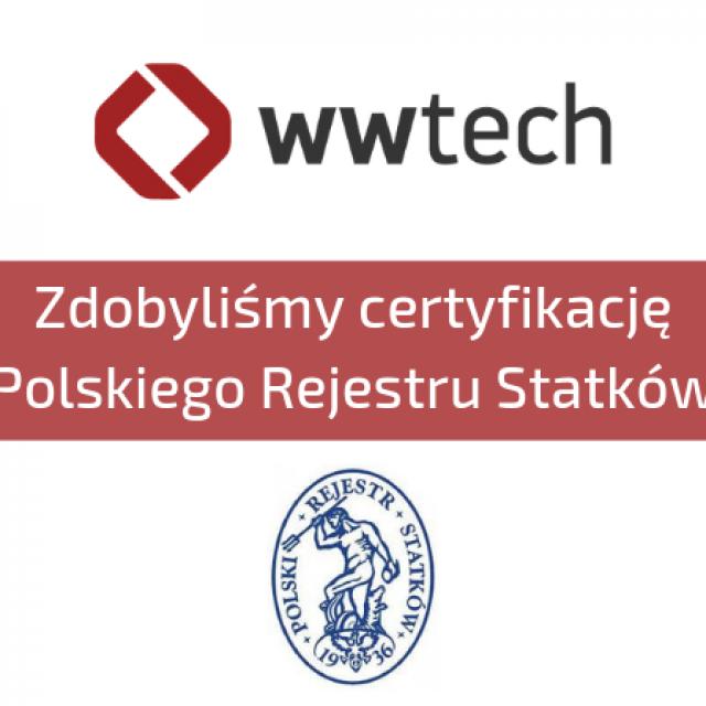 Zdobyliśmy certyfikację Polskiego Rejestru Statków